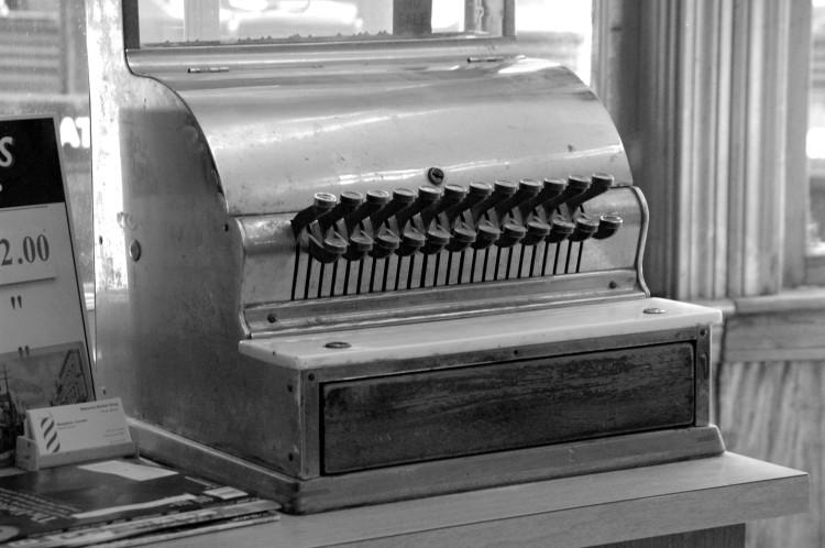 Vintage typewriter Golden